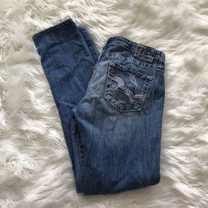 Big Star Sweet Skinny Distressed Women Long Jeans